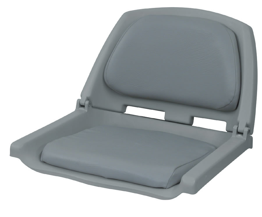 Folding Plastic Boat Seat with Cushion